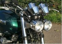 Double Headlight Chrome Housing
