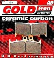 GOLD fren Brake Pads Back